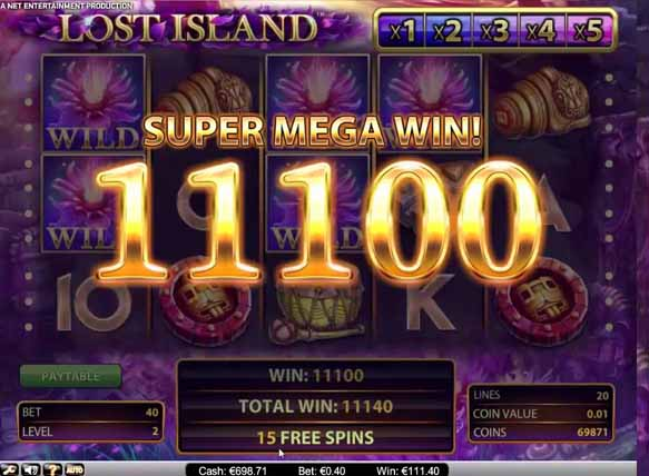 Lost Island Slot online