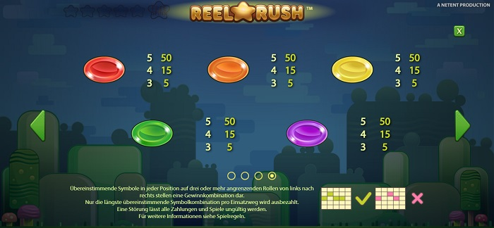 Reel Rush Standardsymbole 1