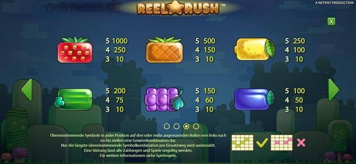 Reel Rush Standardsymbole 2