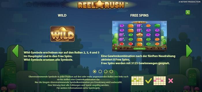Reel Rush Wilds und Freispiele