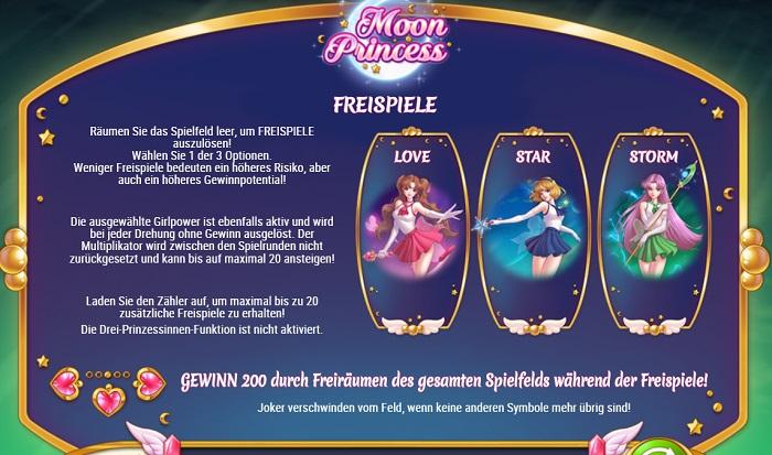 Moon Princess Freispiele