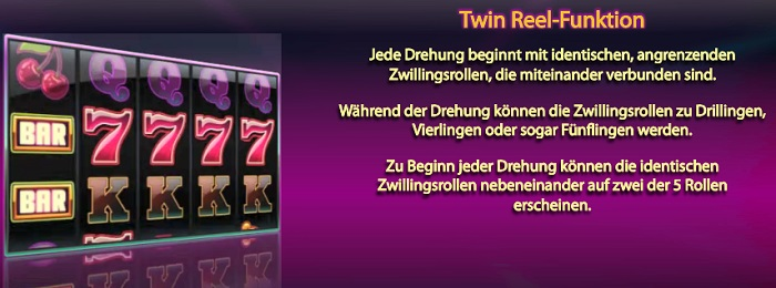 Twin Spin Twin Reel Funktion