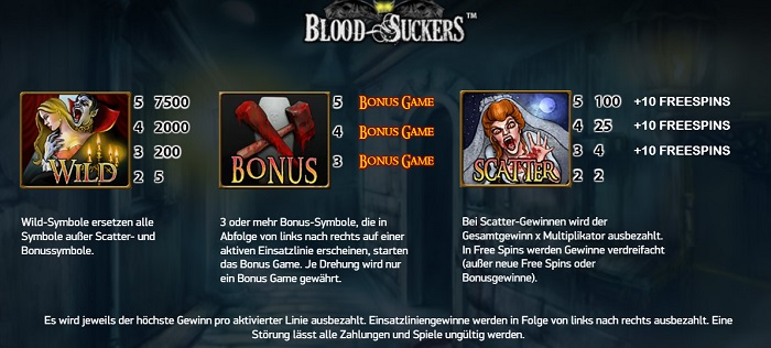 Blood Suckers Bonus