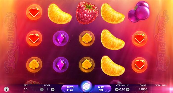 BerryBURST Bildschirm