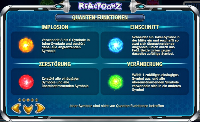 Reactoonz Quantenfunktionen