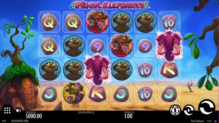 Pink Elephants Bildschirm