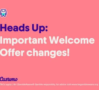 Neues Willkommensangebot von Casumo